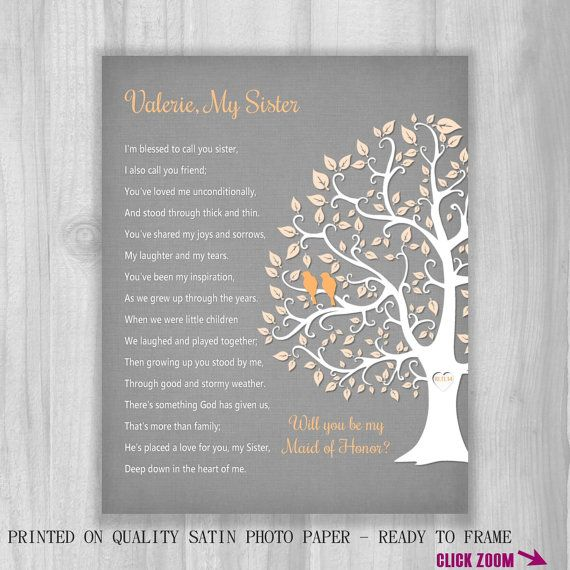 SISTER GIFT Will You Be My Maid Of Honor Proposal