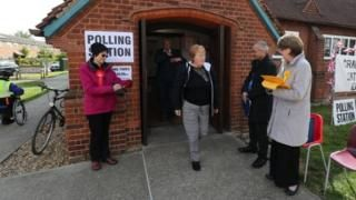 Voters going to polls in local elections across Britain