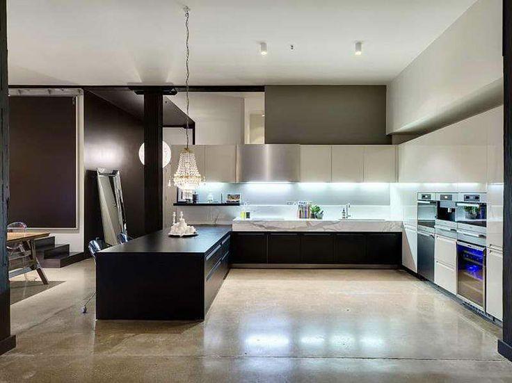 Modern Kitchen Apartment Open Plan Photo 07