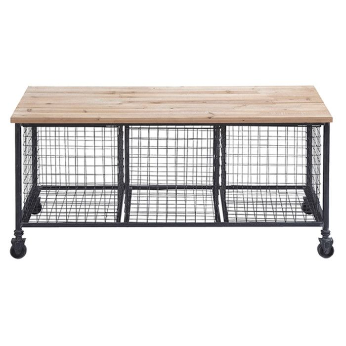 Bedford Storage Bench From Joss Main Industrial Style Storage Bench With 3 Wire Baskets A