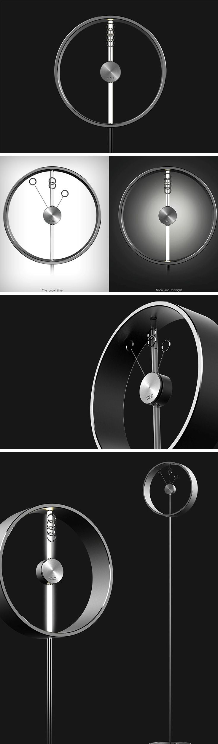 Time rushes by and so do Audi's cars. This rather innovative clock concept uses Audi's logo for some imaginative visual trickery and a pretty uniquely enjoyable time-telling experience!