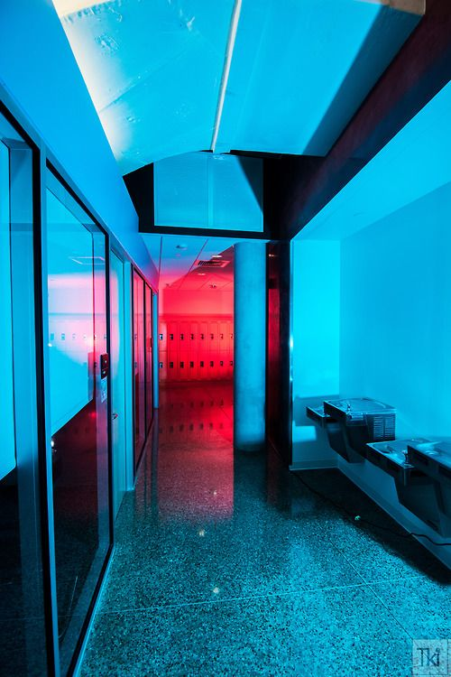 Contrary Colors. Red and Cyan. Background. Idea for kitchen lighting