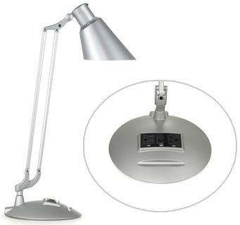Based on the design of the multi-award-winning Diffrient Work Light II, the Diffrient Technology Light's additional benefits include energy efficiency, ergonomic function, engineering precision, and handsome good looks. Its traditional screw-in socket accommodates the latest environmentally conscious compact fluorescent bulbs, which use one-fourth the energy of comparable incandescent bulbs, and last ten times longer