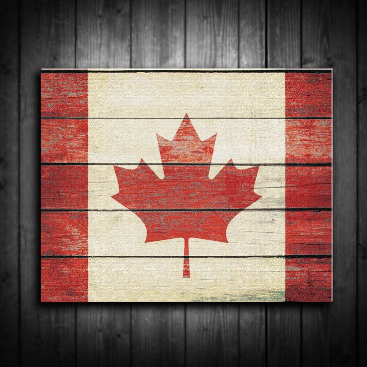 Distressed Canadian Flag Canvas Print Multiple Sizes