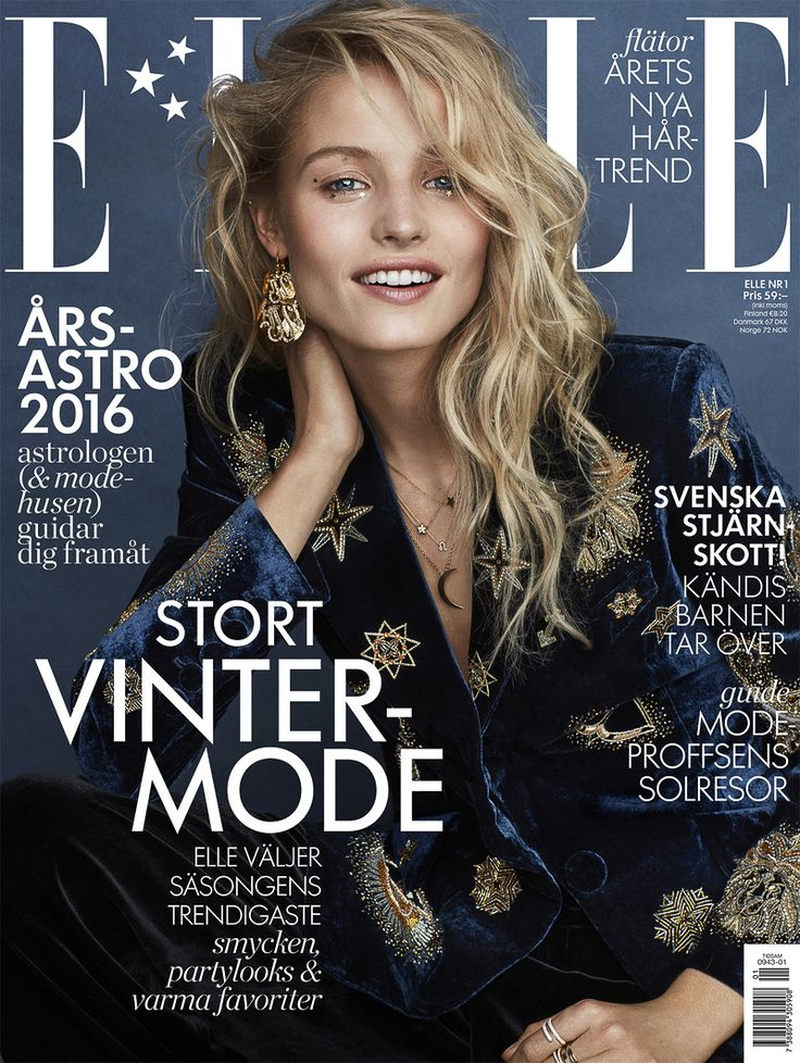 #ELLE #Sweden January 2016 – Tove Agren by Jimmy Backius