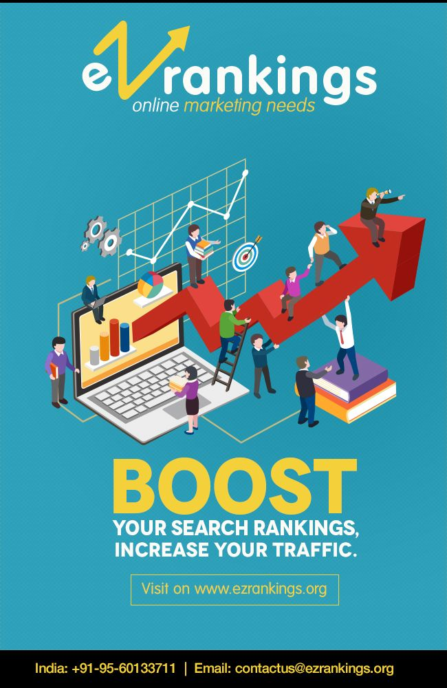 EZ Rankings - Fully Managed #SEO Services! One stop shop for all of Design, Web/Mobile applications & Internet #Marketing. Find details call at +91-956-0133711