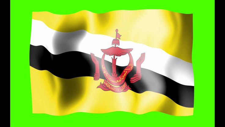 Brunei Waving Flag Green Screen Animation - Free Royalty Footage