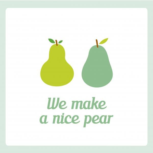 "All you need is love. En e-cards! - ""We make a nice pear"""