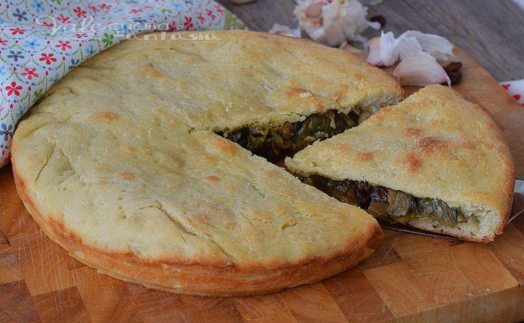 Pizza ripiena di scarola ricetta lievitato