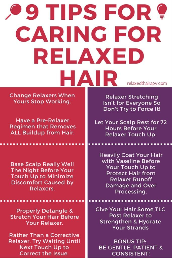 Caring for relaxed hair. Relaxed hair regimen. Preparing for relaxer touch up. Pre-Relaxer Regimen. Post Relaxer Regimen. Corrective Relaxer Recommendation. relaxedthairapy.com