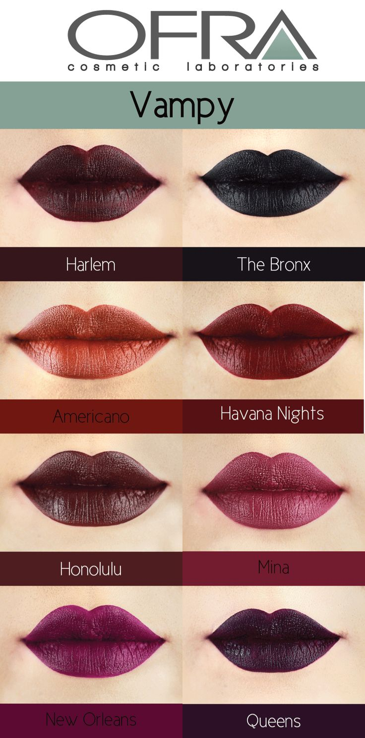Dark and Vampy!?! Slay it!! Code: PINNER for 30% off your purchase! Find a great Vampy or Dark Shade!