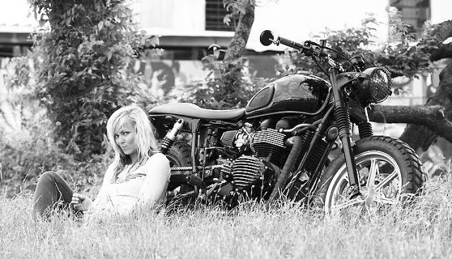 Mercenary Garage: Jessi Combs  #JessiCombs #Triumph #TriumphBonneville #Mercenary #MercenaryGarage