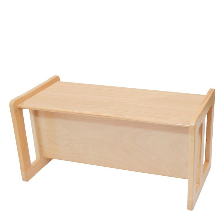 3 In 1 Adults Multifunctional Small Coffee Table One Piece Or Childrens  Table Or Bench Beech Wood, Natural