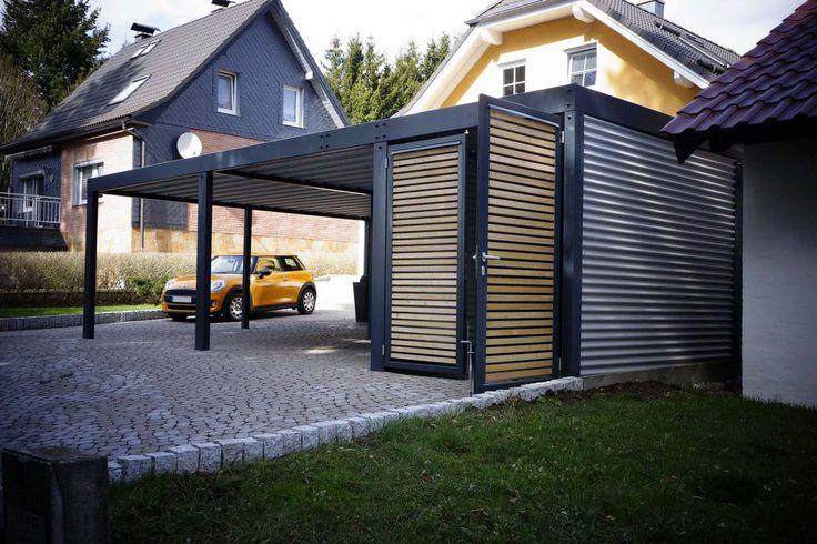 11 besten metallcarport stahlcarport bilder auf pinterest abstellraum architektur und. Black Bedroom Furniture Sets. Home Design Ideas
