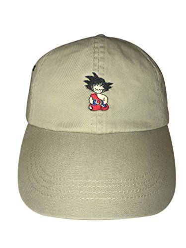543fc82044a Goku Hats Goku Meditating Embroidered Adjustable Strapback Dad Hat Baseball  Cap Dragonball Z (Khaki)