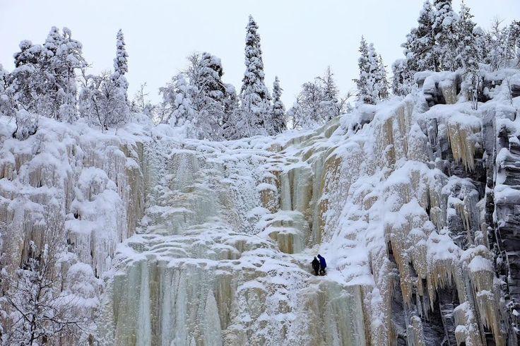 Korouoma Ice Fall at Posio. | Photo: Minna Kaan, Oulu