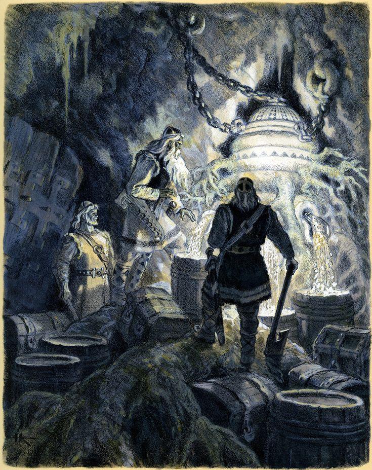— Nicolai Kochergin The Heroes of Kalevala Take the Wonderful Mill Sampo from Pohjola from the Kalevala