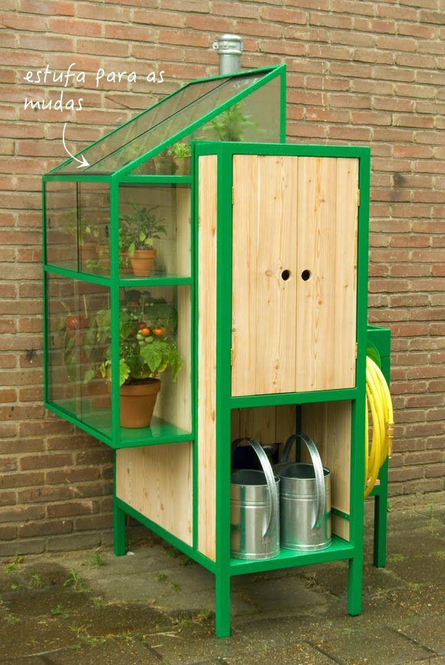 1000 ideias sobre estufa de pallet no pinterest estufas jardinagem da estufa e projetos de - Estufa para habitacion pequena ...