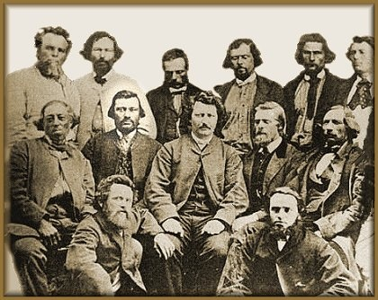 Metis Provisional Government Council    By May 2nd, 1880 - The historical founders of what is now the province of Manitoba. Louis Riel is right in the centre.