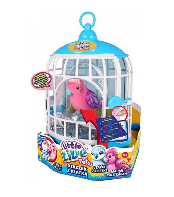 Little Live Pets Ptaszek w klatce. Sprawdź na www.supermisio.pl #forgirls #supermisiopl