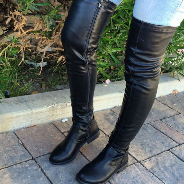 EDITOR'S NOTE Faux Leather Thigh High Round Toe Boot Super Hot Thigh High Boots. Top Favorited. Amazing Discount Price…
