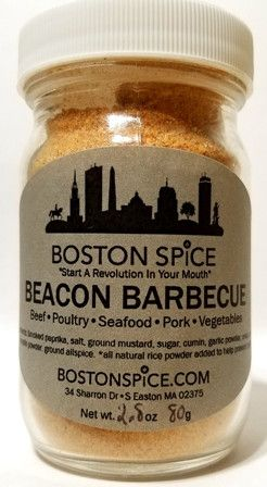Boston Spice's Beacon Barbecue has that smoky flavor from chipotle chili, paprika, and ground allspice. Like the neighborhood its named after, Beacon Hill, it's flavors are truly distinctive. This ble