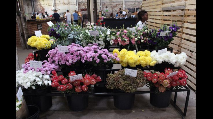 Buy fresh flowers at the Sheds on Fix Street