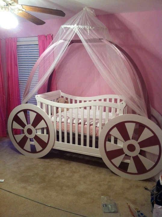 Baby Princess Carriage Crib Crazy Cool Stuff Pinterest