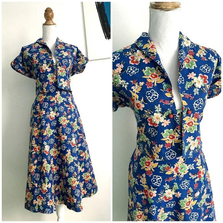 40s 50s - 2pc Precious Hawaiian Bolero + Skirt - W28 (72cm), €70