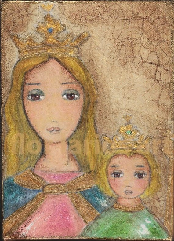 Maria Auxiliadora  Our Lady Help of Christians   by Flor Larios