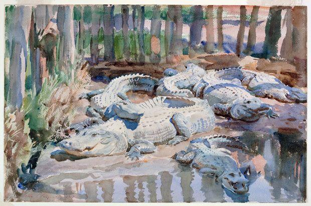 Muddy Alligators (1917), John Singer Sargent. Worcester Art Museum, Sustaining Membership Fund