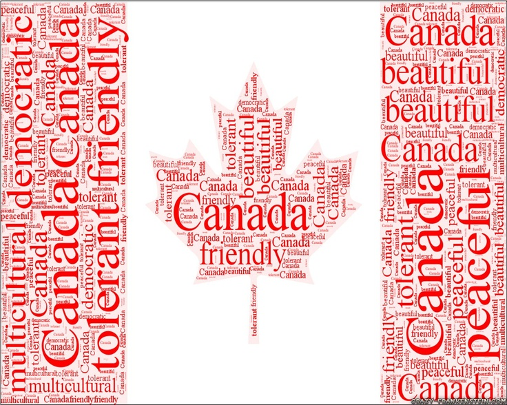 Canada. Flag of Canada put into words. Description of Canadians. What is Canada?