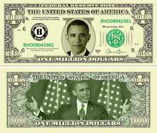Obama Dollar Bill 2013 | Lot of 25) Barack Obama One Million Dollar Bills