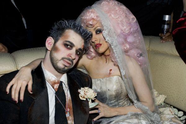 Halloween - pomysły na stroje gwiazd. Christina Aguilera  i Jordan Bratman.