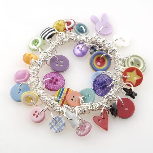 Funky Button Bracelet - Folksy