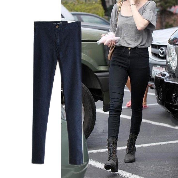 28.58$  Buy here - https://alitems.com/g/1e8d114494b01f4c715516525dc3e8/?i=5&ulp=https%3A%2F%2Fwww.aliexpress.com%2Fitem%2F2016-new-European-style-American-sexy-slim-package-hip-waist-stretch-jeans-pants-female-feet%2F32720542025.html - 2016 new European style American sexy slim package hip waist stretch jeans pants female feet