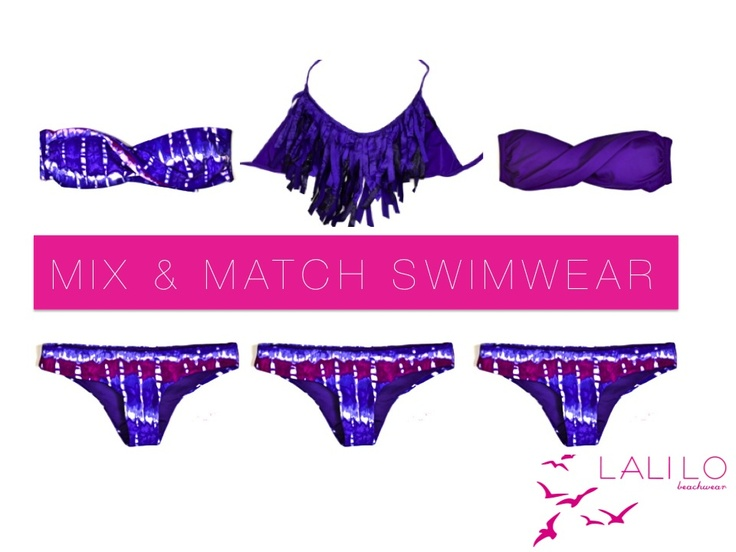 purple fringe and strapless mix and match by LALILO