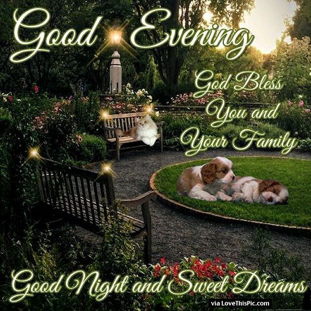 Good Afternoon Picture Quotes: Good Evening God Bless You And Your Family