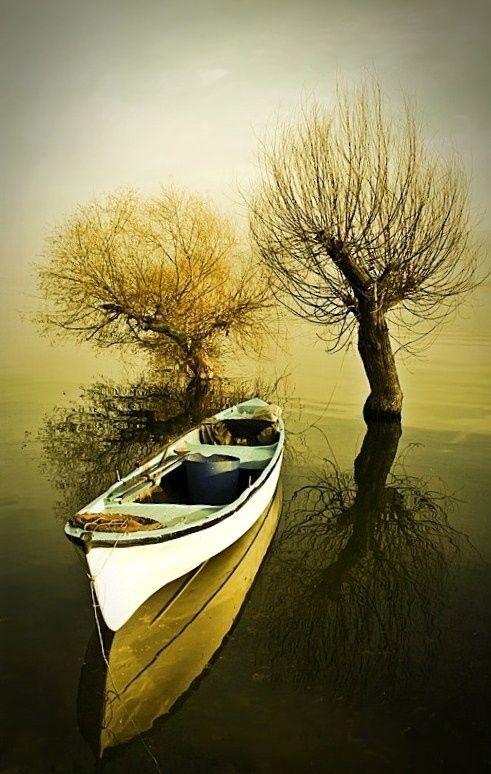 Just a Boat - Apolonia lake-Bursa by Ahmet Utgan (Apolyon Gölü)