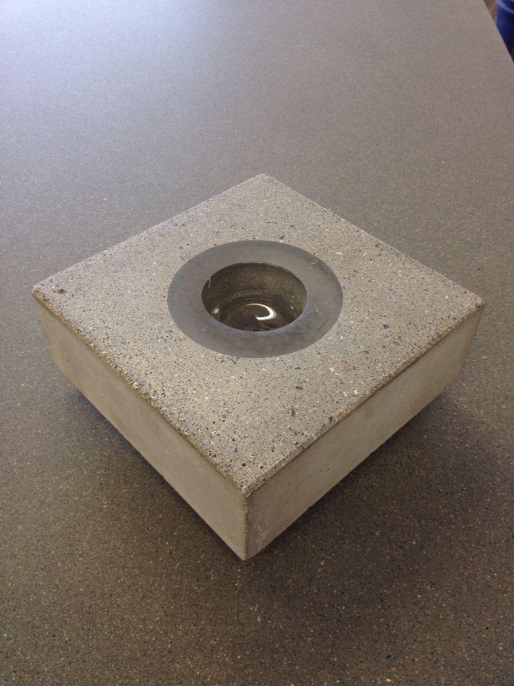 Concrete tea light holder by keithcrewe.com