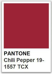 PANTONE 19 1557 Chili Pepper / Color of the year 2007