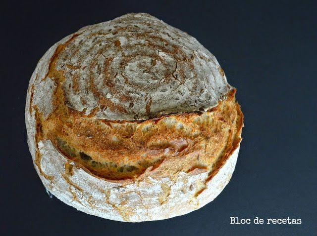 Bloc de recetas: Pan de espelta y centeno integral horneado en combo de hierro fundido