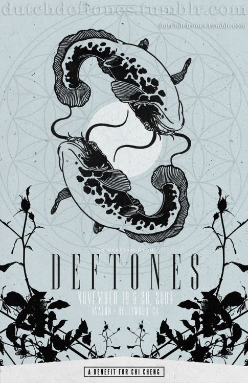 Deftones Show poster 1 'A benefit for Chi Cheng' 19 / 20 November 2009 Avalon, Hollywood, CA