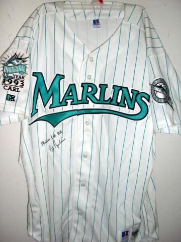 510fd695c ... buy miami marlins majestic orange alternate cool base jersey brett  barberie autographed and inscribed florida marlins