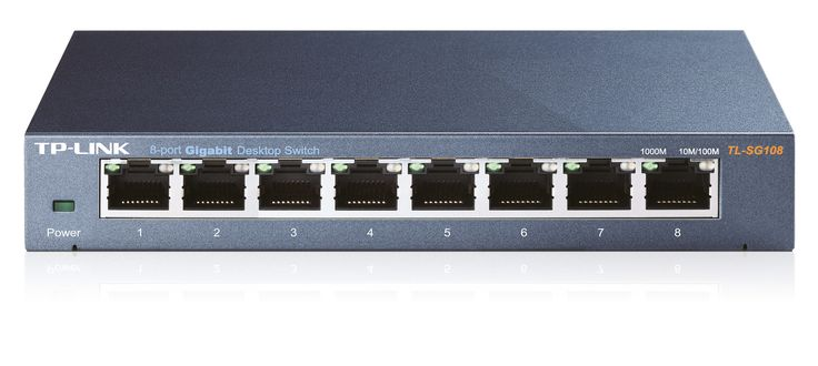 TP-Link TL-SG108 Switch 8x10/100/1000Mbps, Metal case, IEEE 802.1p QoS (TL-SG108)