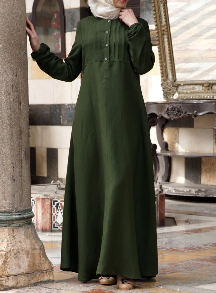 SHUKR USA | Linen Abaya with Tucks