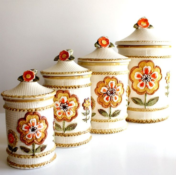 pottery kitchen canister sets 1000 images about canister and canister sets on 21353