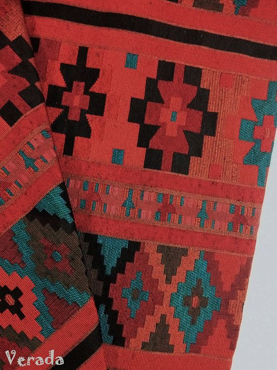 Thai Woven Cotton Fabric Tribal Fabric Native Fabric by the yard Ethnic fabric Aztec fabric Craft Supplies Woven Textile 1/2 yard (WF25)