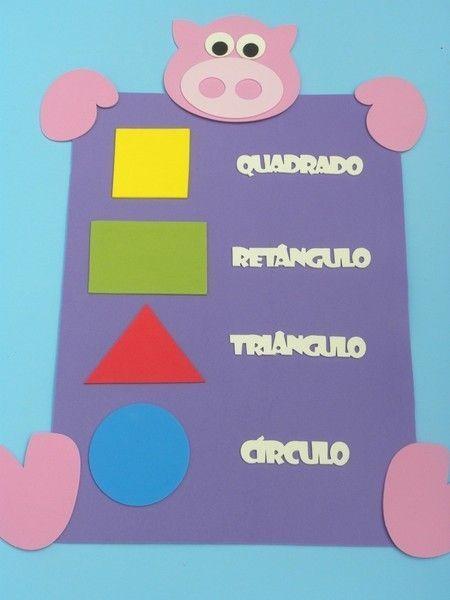 formas geométricas para educação infantil www.petilola.com.br                                                                                                                                                                                 Más