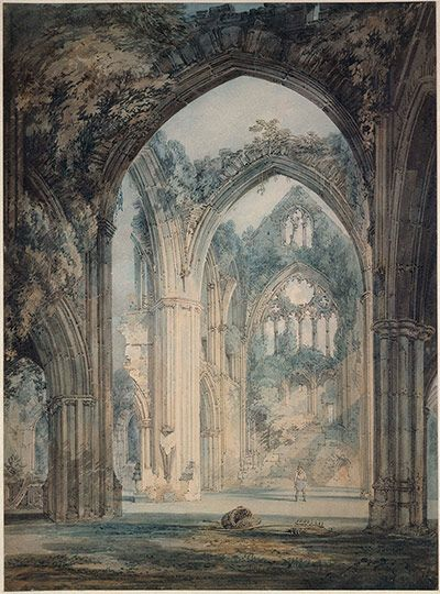 The Transept of Tintern Abbey, Monmouthshire by JMW Turner